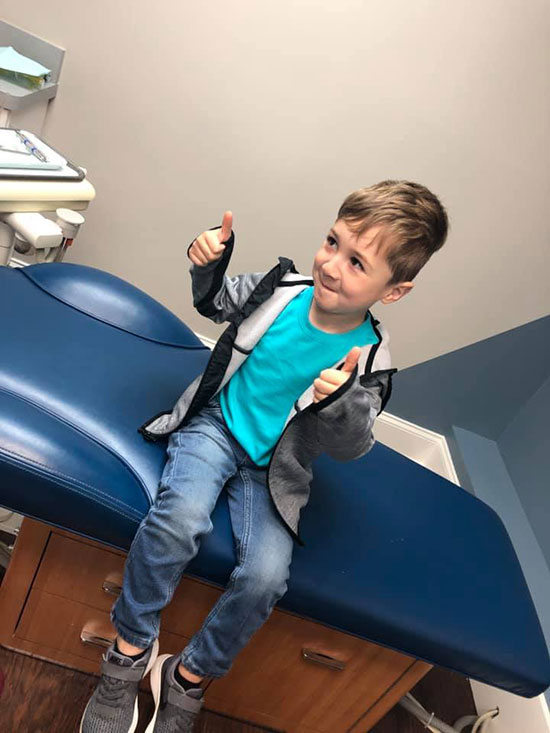 Child patient at Warner Robins GA pediatric dental office
